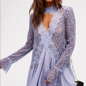 Cross my heart lace Long sleeve Tunic Dress